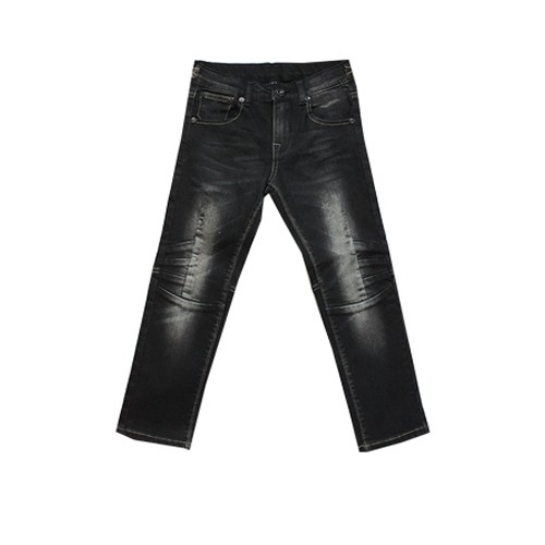 FASHION JEANS FACTORY BOYS BLACK BIKER JEANS