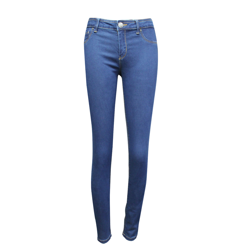 Middle Blue Push up Skinny Jeans
