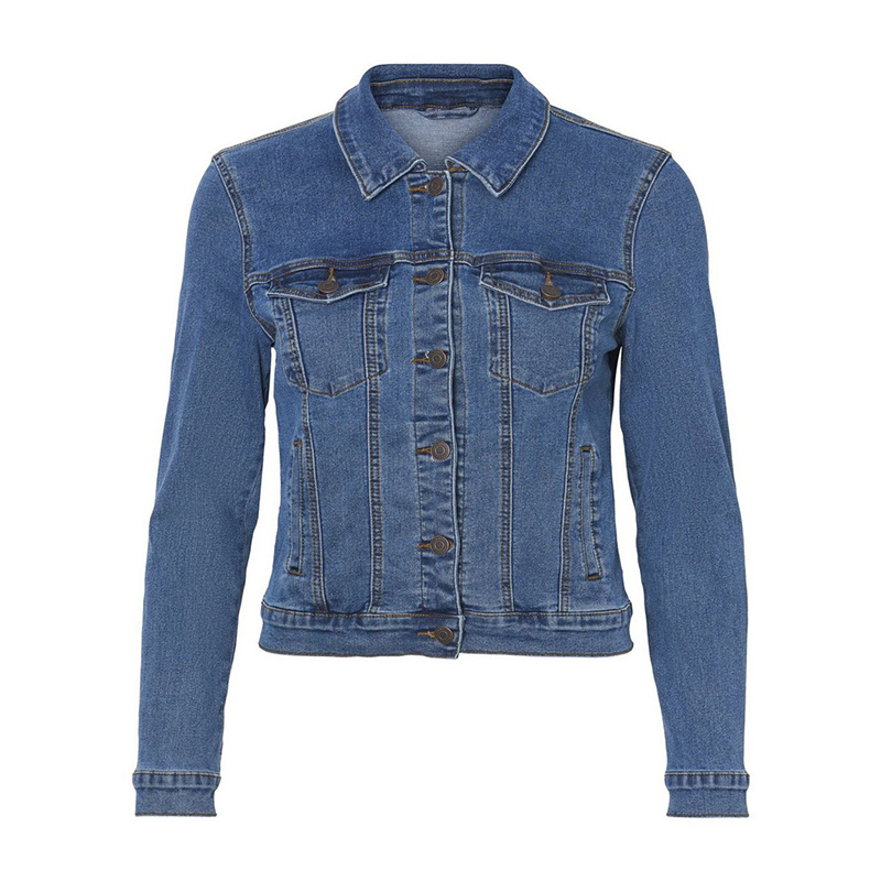 Lady's Middle Blue Denim Jacket