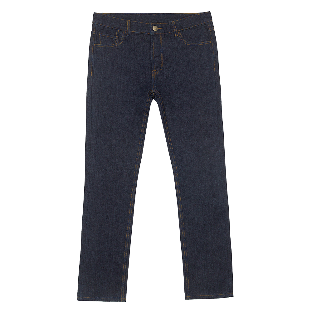 Mens Raw Blue Straight Jeans